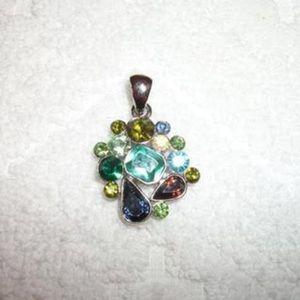 Lia Sophia necklace charm multi colored